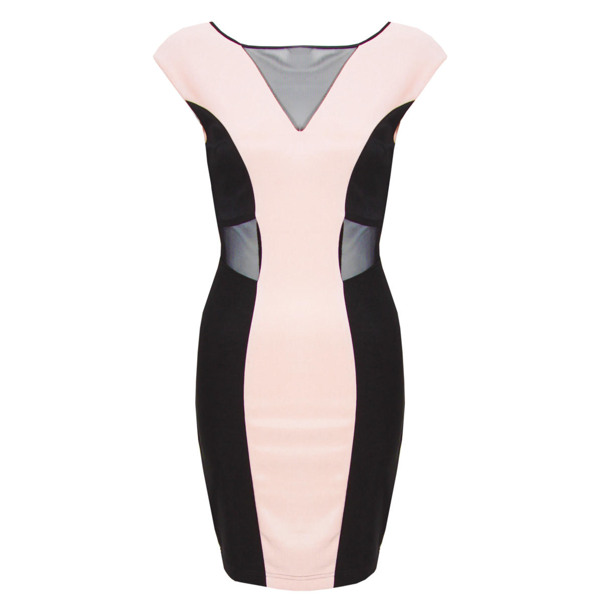 Colour Block Mesh Dress Preview